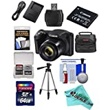 Canon Powershot SX420 IS 20 MP Wi-Fi Digital Camera with 42x Zoom (Black) Includes: Canon NB-11LH Battery & Canon Charger + 9pc 32GB Deluxe Accessory Kit w/ Liquid Deals Cloth