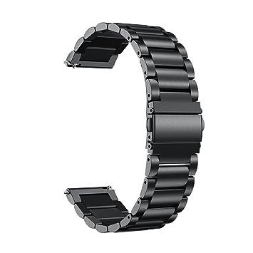 Y56 Garmin vivoactive 3 correa banda, moda pulsera de acero inoxidable correas de repuesto correa