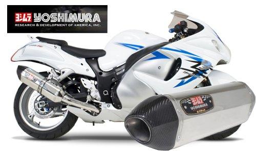 Carbon R77 Yoshimura (08-12 SUZUKI HAYABUSA: Yoshimura R-77 Slip-On Exhaust (Street/Stainless Steel With Carbon Fiber End Cap))