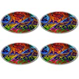 MSD Natural Rubber Round Coasters IMAGE ID 26303967 abstract colorful pattern based on fractal