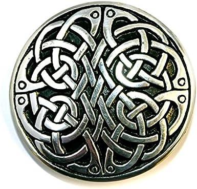 Square Celtic Triquetra Interchangeable Snap Belt Buckle