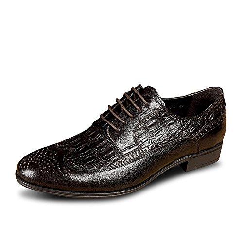 Yinglunbuluoke grabado zapatos de los hombres/ zapatos retro del vestido del negocio A