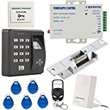 UHPPOTE Fingerprint RFID EM-ID Card Access Control System Kit With NO Strike Lock & Power Supply