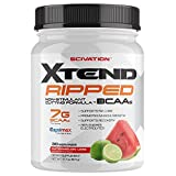 Scivation Xtend Ripped BCAA Powder, Branched Chain Amino Acids, BCAAs, Stimulant Free Muscle Recovery & Fat Burner with CLA & Capsimax, Watermelon Lime, 30 Servings