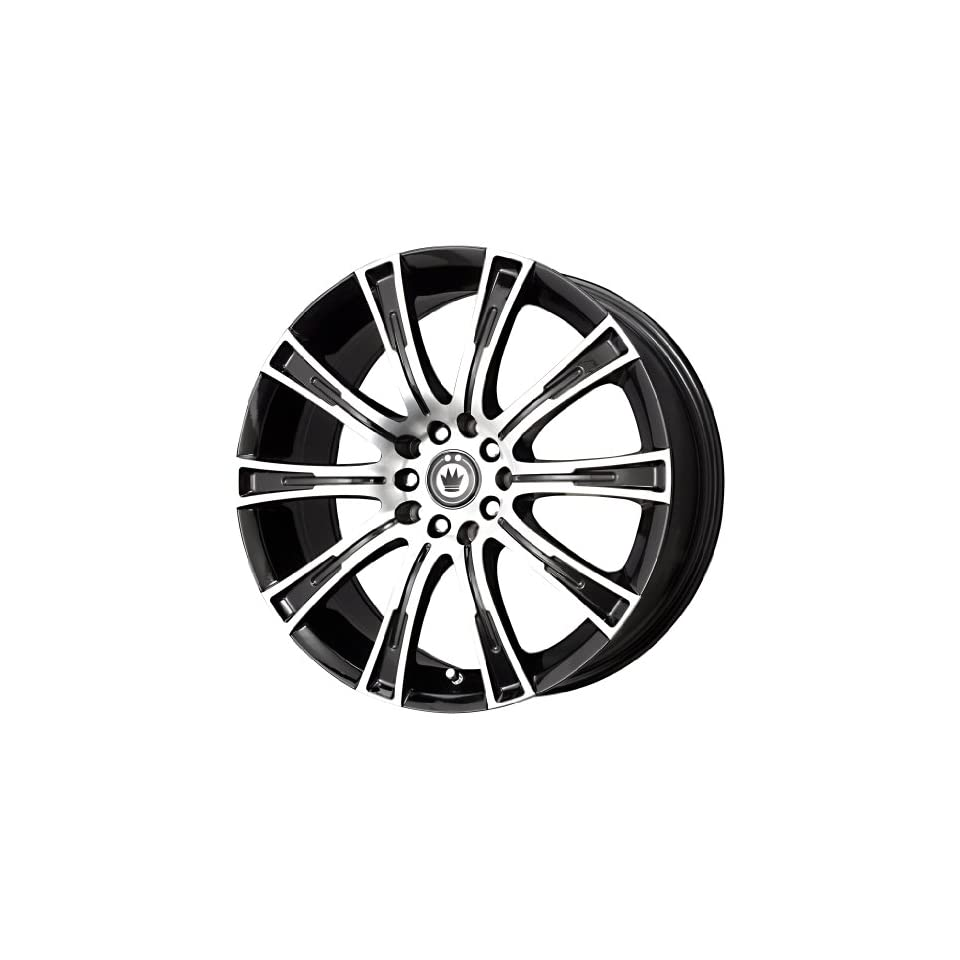 Konig  Crown Black Wheel with Black Machined Face (16x7.5/5x112mm)