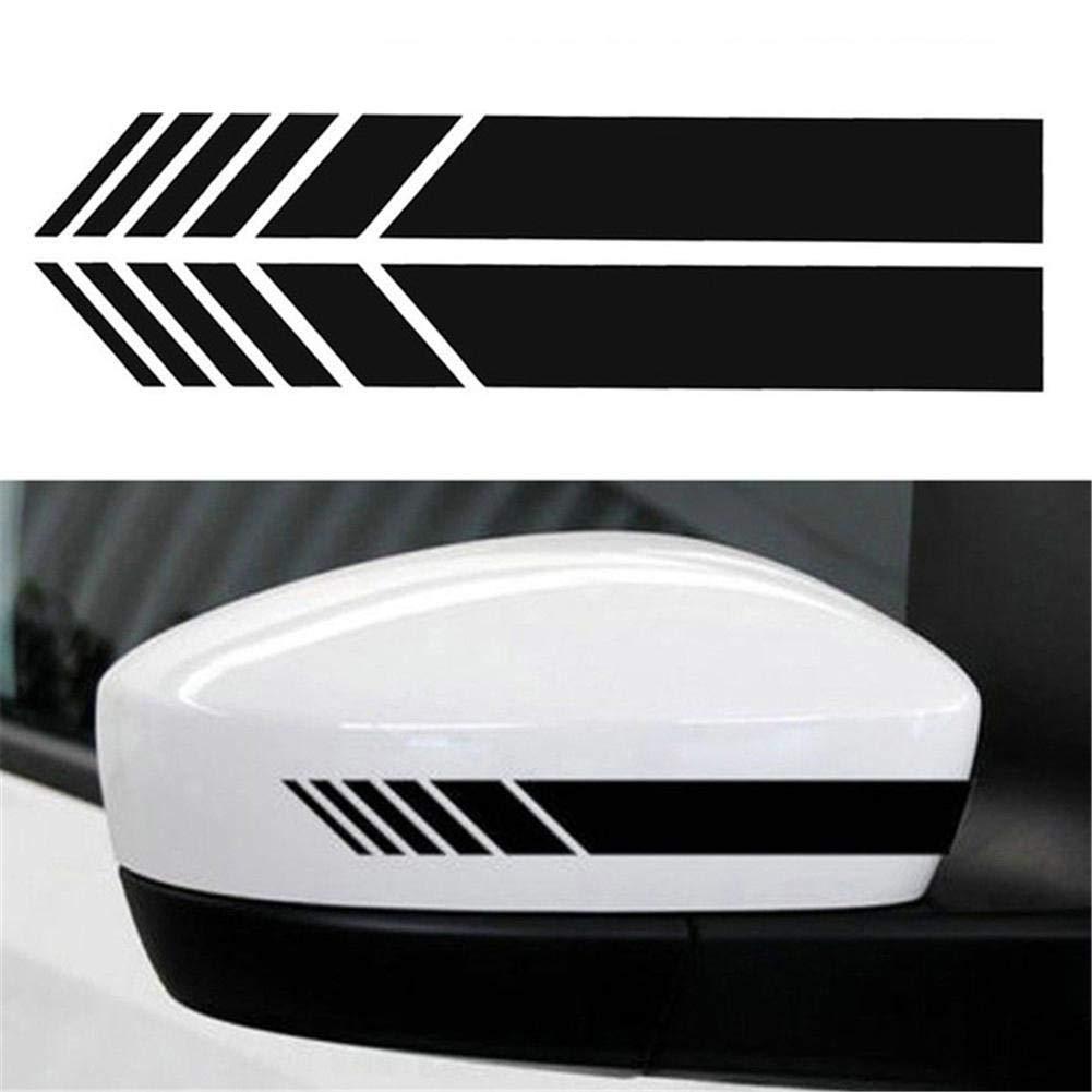 Adesivo corpo adesivo 2 pezzi Adesivo laterale striscia decalcomanie fai da te Auto SUV Vinile Graphic Rear View Mirror Decal
