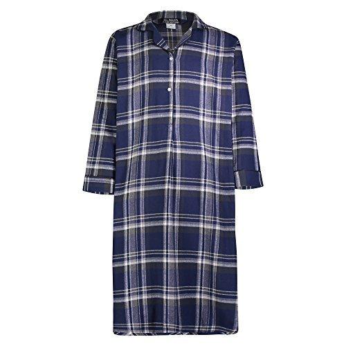 Bill Baileys Sleepwear Men's 100% Cotton Flannel Nightshirt Sleep Shirt (2X-Large, Big Plaid)
