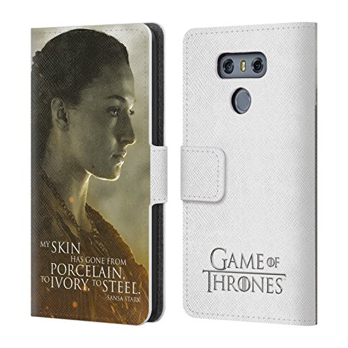 Official HBO Game Of Thrones Sansa Stark Character Portraits Leather Book Wallet Case Cover For LG G6 / G6 (Sansa Leather Case)
