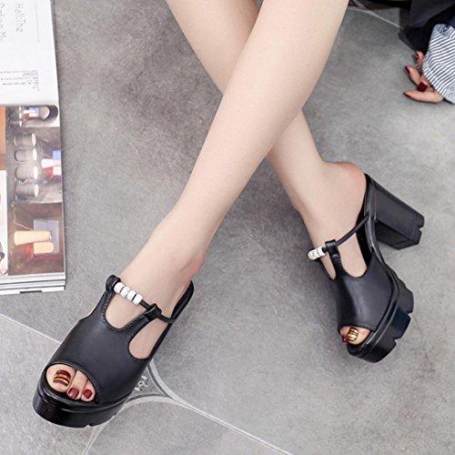 huichang New Fashion Women Fish Mouth Platform High Heels Wedge Sandals Crystal Slope Sandals Black kZ4NvCbR52