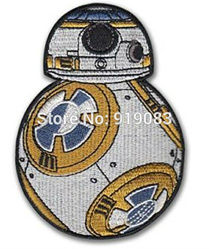 Star Wars 7 VII BB-8 The Force Awakens Patch TV Movie Series Uniform applique Embroidered iron on badge for Hat Jacket Backpack
