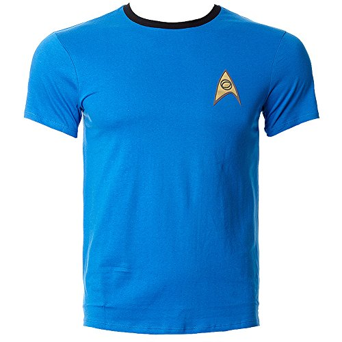 Official Star Trek Science and Medical Uniform Men's T-Shirt (L)]()