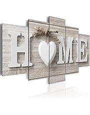 murando - Tableau Acoustique Home Planche 200x100 cm Impression sur Toile Image 5 Pieces Tableaux murals Absorption Acoustique Tableau Decoration Murale m-A-0685-b-m