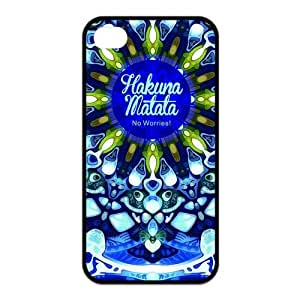 Custom Hakuna Matata Design Rubber TPU Case for Iphone 4 4S