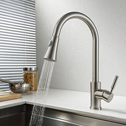 Ling Kitchen Sink Faucets Basin Mixer Faucet Tap Bathroom Faucet Tap Rotating Hot And Cold Pull-Down Wirec Spout Water Pull out