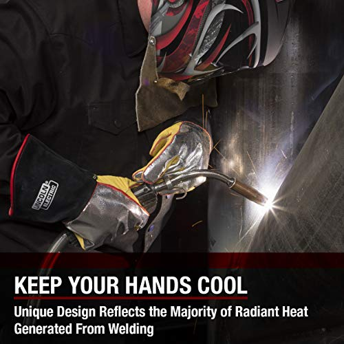 Lincoln Electric Heat Resistant Welding Gloves |Aluminized Reflective Hand | Large | K2982-L by Lincoln Electric (Image #3)