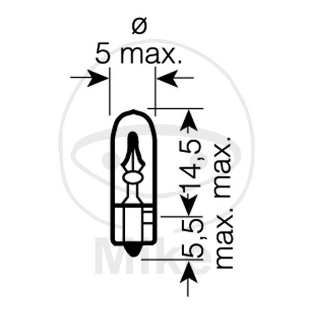 Osram 2723 Glü hlampe, Instrumentenbeleuchtung OA2723