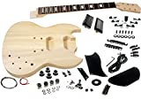 Solo SG Style DIY Guitar Kit, Basswood Body, Rosewood FB, Set Neck, SGK-10