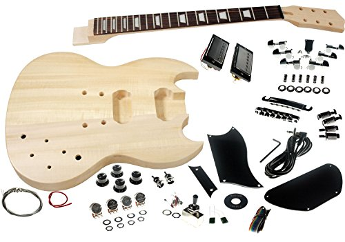 Solo SG Style DIY Guitar Kit, Basswood Body, Rosewood FB,...
