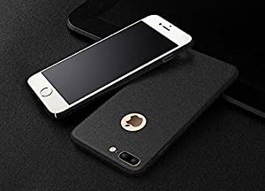 iShop - iPhone 7 plus Protective casing, Wear-resistant hard PC case, plastic back cover protect skins, Rough feel with 4 colors selection, Full surround body design, perfect protection (Black)