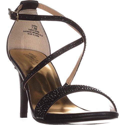 TS35 Darria Cross Strap Evening Sandals - Black Metallic