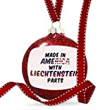 Christmas Decoration Made in America with Parts from Liechtenstein Ornament
