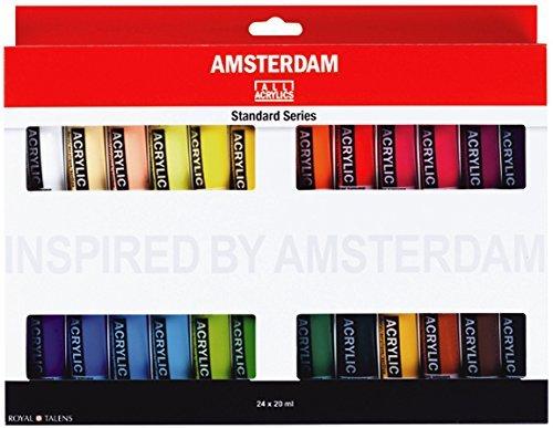 Amsterdam Royal Talens Acrylic Standard Tubes, 20ml-Tubes, Set of 24 (100516105) ()