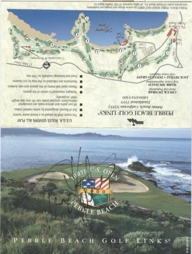 Tom Kite Autographed Pebble Beach Golf Links U.S. Open Scorecard ()