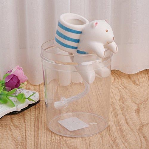 Kofun Cute Sea Animal DIY Straw Self-watering Mini Ceramic Green Plants Potted Plant Polar Bear