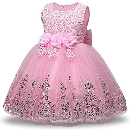 LZH Girls Bridesmaid Dress Wedding Pageant Party Princess Gown Prom Dresses -