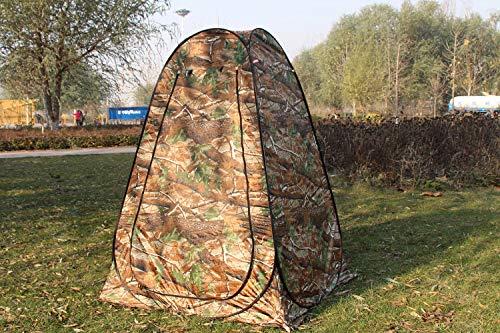 120 190cm Sviqskr Camouflage Tragbare Privatsph/äre Im Freien beobachten Pop Up Zelt Silber beschichtet estand Toilette//Dusche//Wechselzimmer//Angelzelt 120