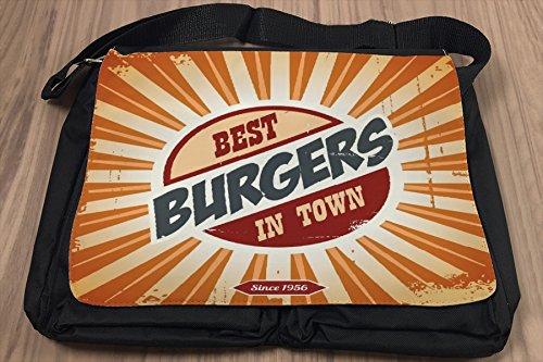 Borsa Tracolla Alimentare Ristorante Migliori hamburger della città Stampato