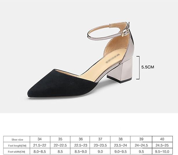 GYHDDP Zapatos de Tacón bajo de Mujer para Mujer \ Tacones