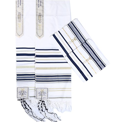 Star Gifts 2pcs Navy Blue Messianic Tallit Prayer Shawl 72