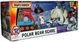- Matchbox Mega Rig Adventure - Polar Bear Scare with Retractable Capture Rope, Tundra Tent, Matchbox Man, Ice Plow, Net Launcher, Polar Bear, Capture Collar and Baby Penguin