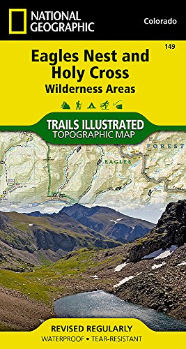 Eagles Nest and Holy Cross Wilderness Areas (National Geographic Trails Illustrated Map)