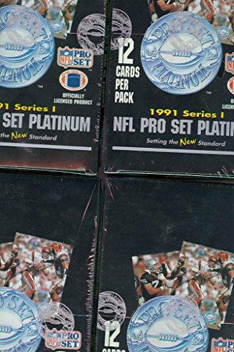 4x 1991 Pro Set Platinum Football card Wax Pack Box Collection ProSet Series ()