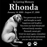 Personalized Rhodesian Ridgeback Dog Pet Memorial 12''x12'' Engraved Black Granite Grave Marker Head Stone Plaque RHO1