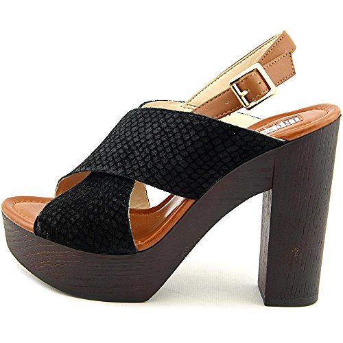 INC International Concepts Cyleb Women US 8 Black Platform Sandal KMOsXZGv