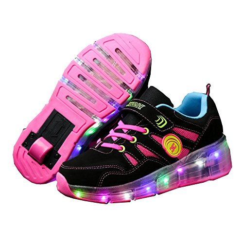 Ufatansy Uforme Kids Girls Boys Light up wheels Roller Shoes Skates Sneakers