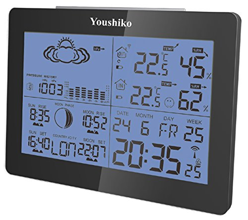 youshiko yc9360 indoor outdoor wireless weather temperature humidity