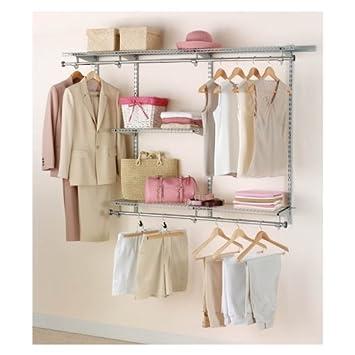 Rubbermaid Configurations Closet Kits, 3 6 Ft., Titanium (FG3H1102TITNM)