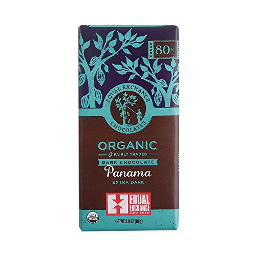 Equal Exchange Organic Panama Extra Dark Chocolate, 2.8 Ounce (Pack of 6) (Trade Fair Chocolate Organic)