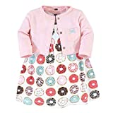 Hudson Baby Girls' Cotton Dress and Cardigan