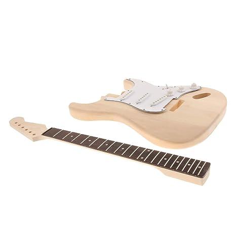 B Blesiya Juego de Guitarra Eléctrica Cuerpo, Cuello Placa Cable de Madera Instrumentos de Cuerda