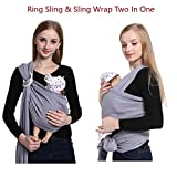Soft Baby Wrap ,Natural Cotton Baby Ring Sling carrier,Nursing Cover,Postpartum Belt,Baby Holder For Newborns Infants Toddlers to 35 lbs, Perfect Baby Shower Gift By Vicsou