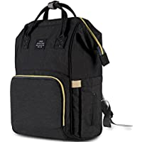 HaloVa Diaper Bag Multi-Function Waterproof Travel Backpack (Black)