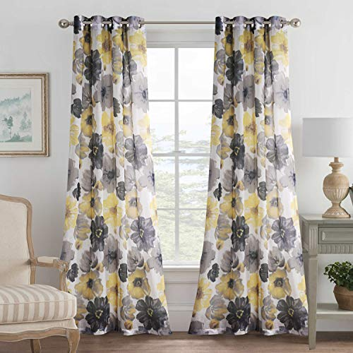 H VERSAILTEX Blended Grommet Semi Sheer Curtains product image