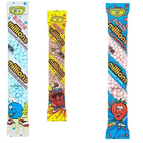 Millions Sweets 3 Pack (Strawberry, Cola, Bubblegum)