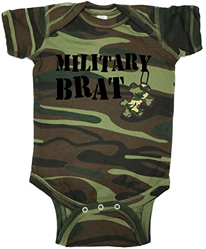 Military Brat Camouflage Puzzle Piece Baby, Bodysuit, Creeper Humorous Baby Showers Gifts,...