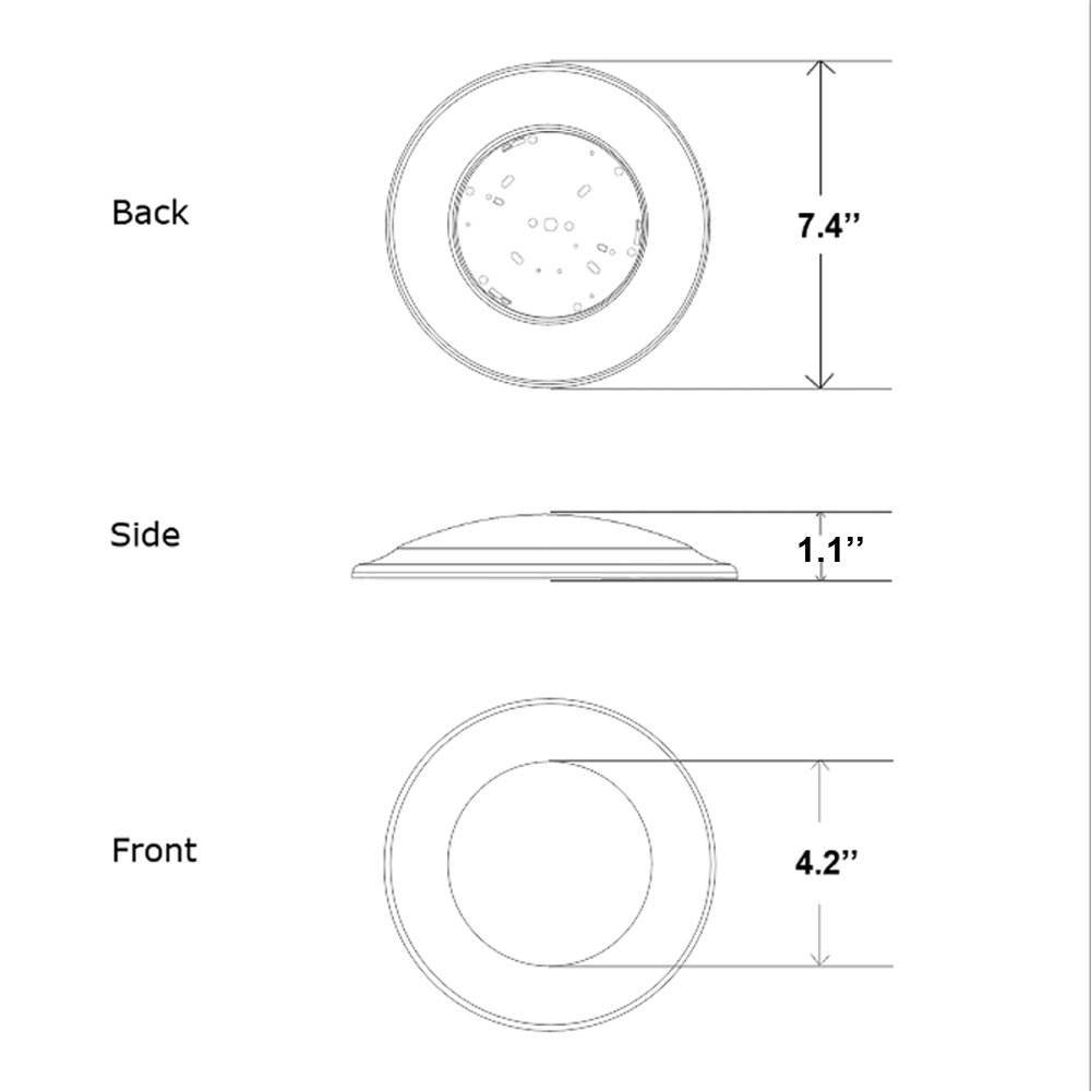 6 Inch Slim Surface & Recessed Mount Round LED Disk Light, 15W, 1000Lumens, CCT 3000K, CRI>80, Dimmable, DOB Design, cETL Listed and Energy Star, WISH LIGHTING, 6 Pack by Wish Lighting (Image #4)